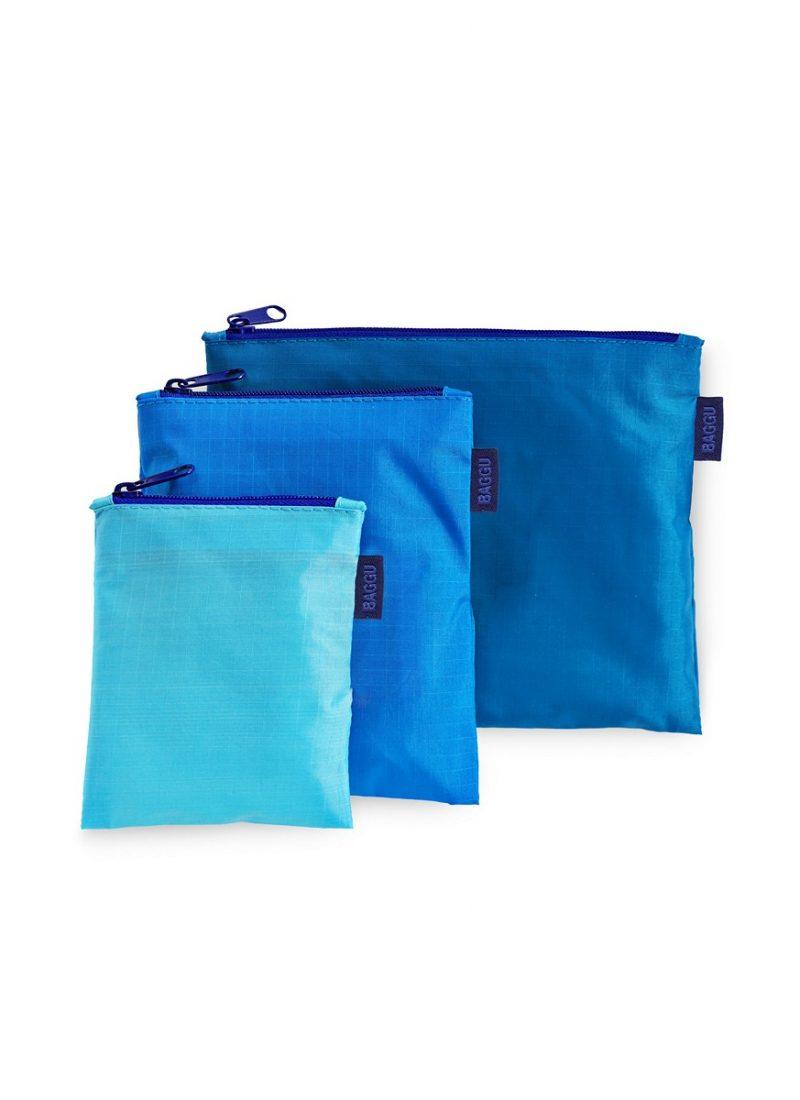 Blue Zipper Bags - BAGGU