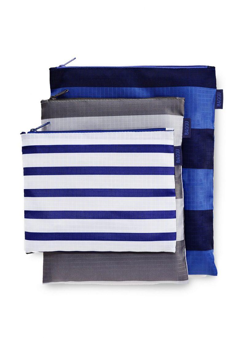 Striped Zipper Bags - BAGGU